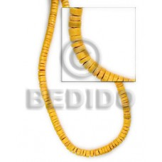 Yellow 16 inches Coconut Heishi 4-5 mm Dyed Coco Heishe Beads BFJ010CH
