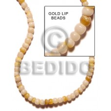 Yellow Gold Lip 16 inches Round Shell Round Shell Beads BFJ051SPS