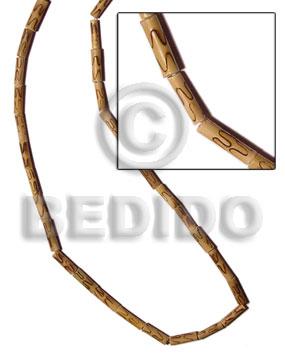 Bamboo Natural Burning Wood Beads Bamboo Wood Burning BFJ110WB