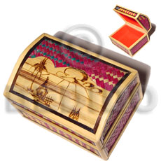 Bamboo Pandan Box Large Weave Jewelry Box BFJ018JB