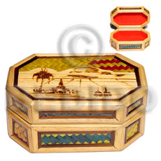 Bamboo Pandan Box Small Weave Jewelry Box BFJ014JB