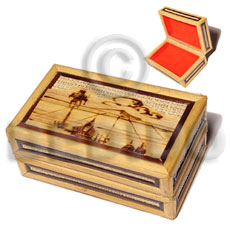 Bamboo Rafia Box Medium Weave Jewelry Box BFJ022JB