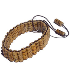 Bamboo Weave Wood Bracelets BFJ5040BR