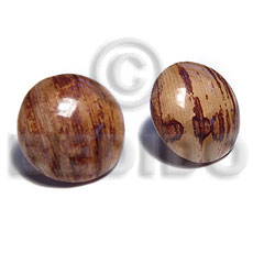 Banana Bark Button Laminated 25 mm Natural Wood Earrings BFJ5703ER