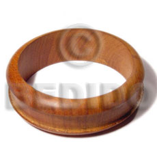 Bayong Wood 65 mm Inner Diameter / Outer 105 mm Natural Bangles - Wooden Bangles BFJ095BL