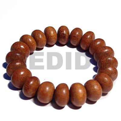 Bayong Wood Elastic Hardwood Mentos Wood Bracelets BFJ5325BR
