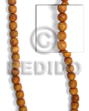 Bayong Wood Hardwood Round 6 mm Beads Strands Brown Wood Beads - Round Wood Beads BFJ077WB