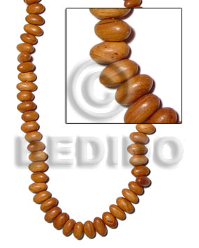 Bayong Wood Oval 17 mm Brown Hardwood Wood Beads - Teardrop and Oval Wood Beads BFJ133WB