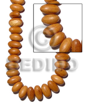 Bayong Wood Oval 22 mm Brown Nuggets Wood Beads - Teardrop and Oval Wood Beads BFJ139WB