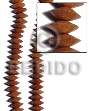 Bayong Wood Saucer 6 mm Brown Beads Strands Wood Beads - Saucer and Diamond Wood Beads BFJ251WB