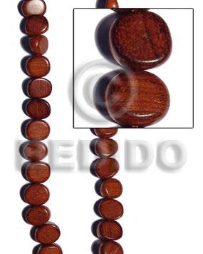 Bayong Wood Slice Melon 15 mm Brown Wood Beads - Nuggets Wood Beads BFJ218WB