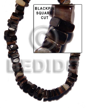 Black 16 inches Black Pen Shell Square Cut Beads Strands Shell Crazy Cut Shell Beads BFJ005SQ