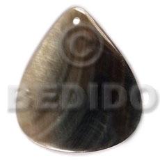 Black Lip Shell 40 mm Teardrop Black Pendants - Simple Cuts BFJ6250P