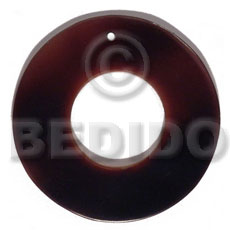 Black Tab Shell 40 mm Black Ring Pendants - Simple Cuts BFJ6202P