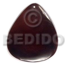 Black Tab Shell 40 mm Teardrop Black Pendants - Simple Cuts BFJ6252P