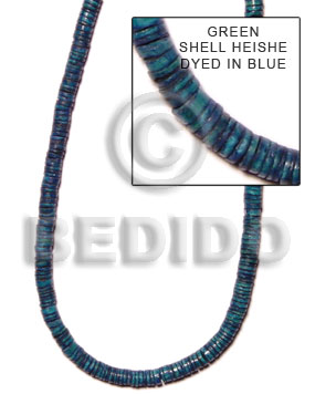 Blue Green Shell 16 inches Heishi Shell Heishe Shell Beads BFJ027HS