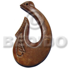 Bone 45 mm Antique Pendants - Bone Horn Pendants BFJ6107P