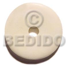 Bone Round Natural White 40 mm Pendants - Bone Horn Pendants BFJ5619P