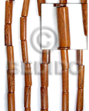 Brown 16 inches Bayong Wood Tube 11 x 25 mm Natural Wood Beads - Tube and Heishe Wood Beads BFJ038WB