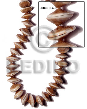 Brown 16 inches Conus Shell Shell Whole Shell Beads BFJ031SPS