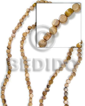 Brown 16 inches Robles Wood Disc 5 x 7 mm Natural Wood Beads - Flat Round and Oval Wood Beads BFJ032WB