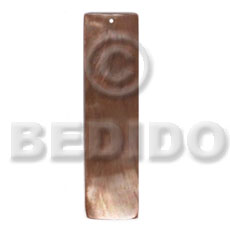 Brown Lip Shell 40 mm Bar Brown Pendants - Simple Cuts BFJ6238P