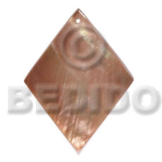 Brown Lip Shell 40 mm Diamond Brown Pendants - Simple Cuts BFJ6216P