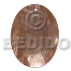 Brown Lip Shell 40 mm Oval Brown Pendants - Simple Cuts BFJ6210P