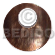 Brown Lip Shell 40 mm Round Brown Pendants - Simple Cuts BFJ6224P