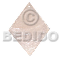 Capiz Shell 40 mm Diamond White Pendants - Simple Cuts BFJ6218P