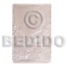 Capiz Shell 40 mm Rectangular White Pendants - Simple Cuts BFJ6261P
