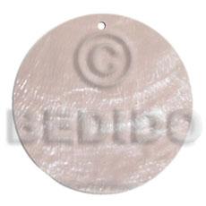 Capiz Shell 40 mm Round White Pendants - Simple Cuts BFJ6257P