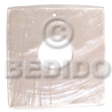 Capiz Shell 40 mm Square White Pendants - Simple Cuts BFJ6232P