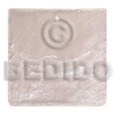 Capiz Shell 40 mm Square White Pendants - Simple Cuts BFJ6246P