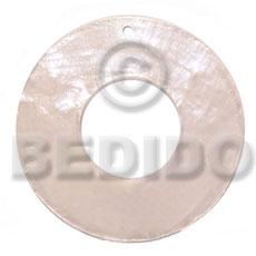 Capiz Shell 40 mm White Ring Pendants - Simple Cuts BFJ6204P