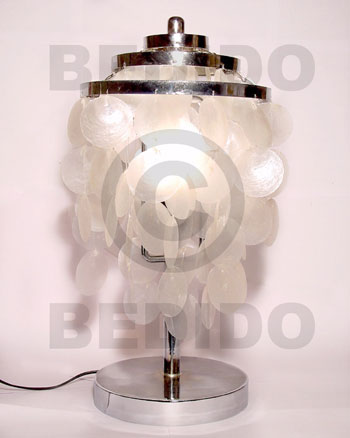 Capiz Shell Lamp White Capiz Shell Chandeliers BFJ019CC