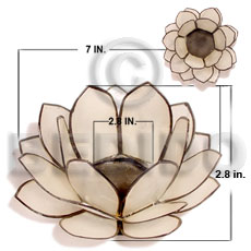 Capiz Shell Natural Brass White Flower GIFT AND DECORS BFJ080GD