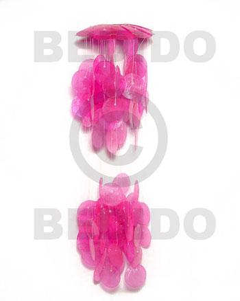 Capiz Shell Round Pink 5 inch Capiz Shell Chandeliers BFJ013CC
