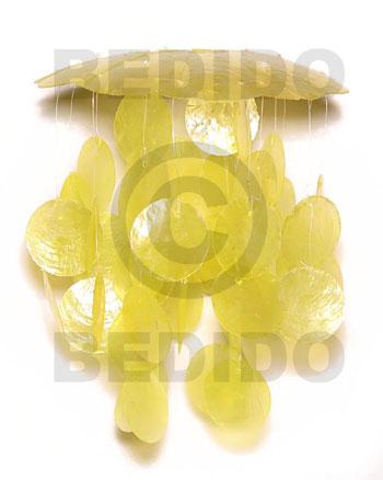 Capiz Shell Round Yellow 6 inch Capiz Shell Chandeliers BFJ007CC