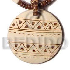 Coconut 50 mm Round Brown Pendants - Coco Pendants BFJ5417P