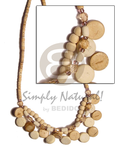 Coconut Beads Acrylic Crystals Wood Beads 2-3 mm Coconut Necklace BFJ484NK