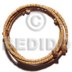 Coconut Beads Buri Seed Palmwood 2-3 mm Heishi Coconut Bracelets BFJ5099BR