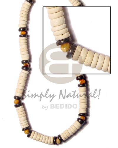 Coconut Black Red Elastic Coconut Necklace BFJ445NK