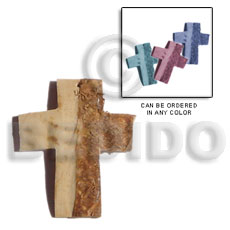 Coconut Cross Brown Pendants - Coco Pendants BFJ5067P
