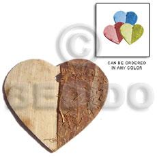 Coconut Heart Brown Pendants - Coco Pendants BFJ5060P