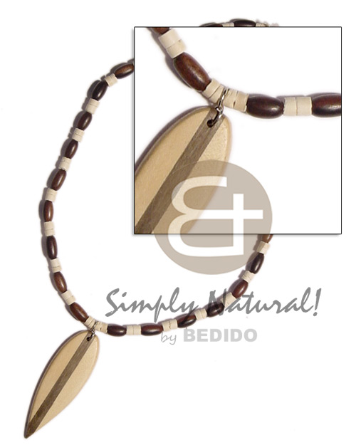 Coconut Heishi Coconut Necklace BFJ787NK