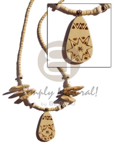 Coconut Heishi Nassa White Shell Nuggets 2-3 mm Coconut Necklace BFJ231NK