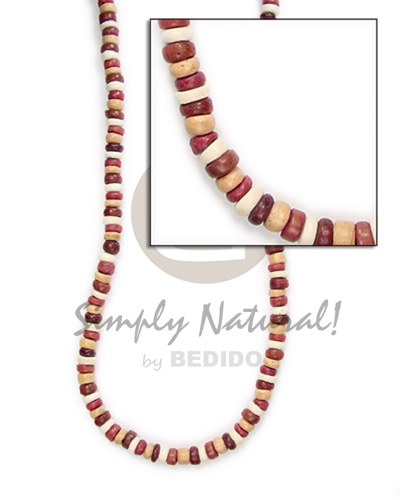Coconut Pokalet 4-5 mm Brown Coconut Necklace BFJ008NK