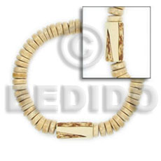 Coconut Pokalet 7-8 mm Natural Coconut Bracelets BFJ5003BR