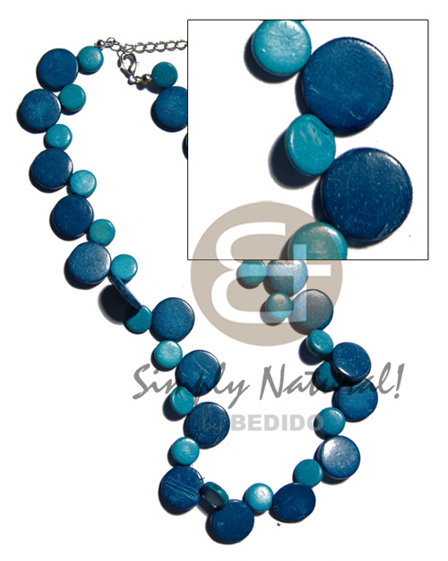 Coconut Side Drill Blue Coconut Necklace BFJ1899NK
